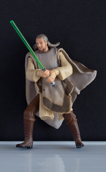 "QUI-GON JINN (TATOOINE SHOWDOWN) - STAR WARS EPISODE I COLLECTION, 1999 3.75"" LOOSE (NM)"