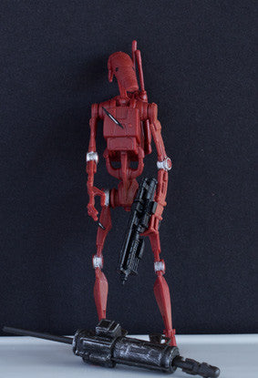 "RED BATTLE DROID (ATTACK OF THE CLONES) MH4 - STAR WARS MOVIE HEROES 2012 3.75"" LOOSE (NM)"