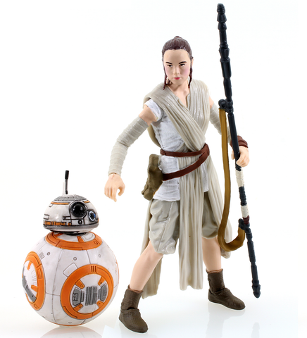 "Rey and BB-8 Star Wars Black Series 6"" Loose"