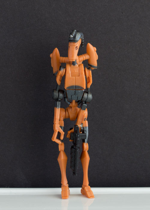 ROCKET BATTLE DROID (FIRING BOARDING CLAW) 25 - STAR WARS THE CLONE WARS COLLECTION, 2008 LOOSE 3.75""