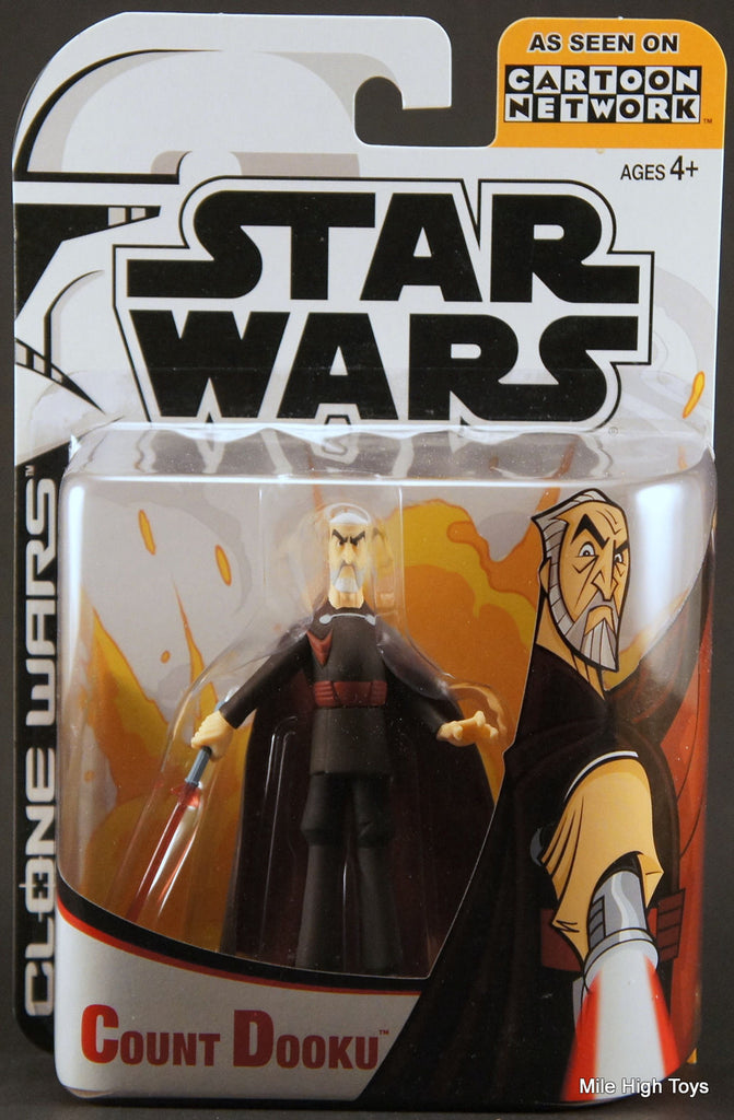 Count Dooku Clone Wars Cartoon Network 3.75""