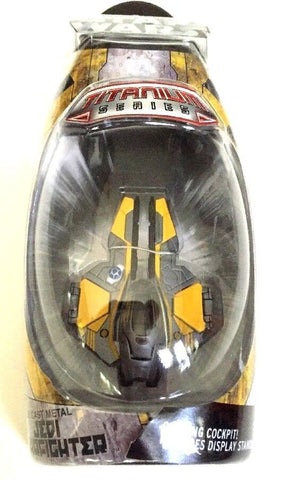 Jedi Starfighter (Yellow) Titanium Series Scaled Model Vehicle