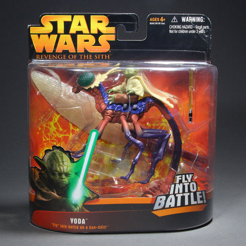"Yoda ""Fly"" into battle on a Can-Cell Revenge of the Sith"