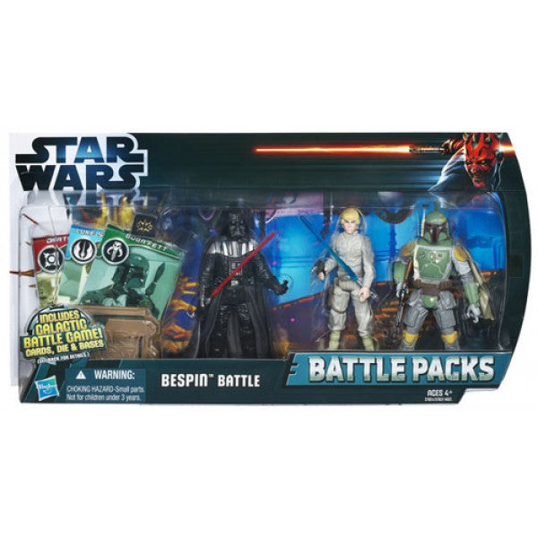 Bespin Battle Battle Packs (Luke, Boba Fett, Darth Vader) 3.75""