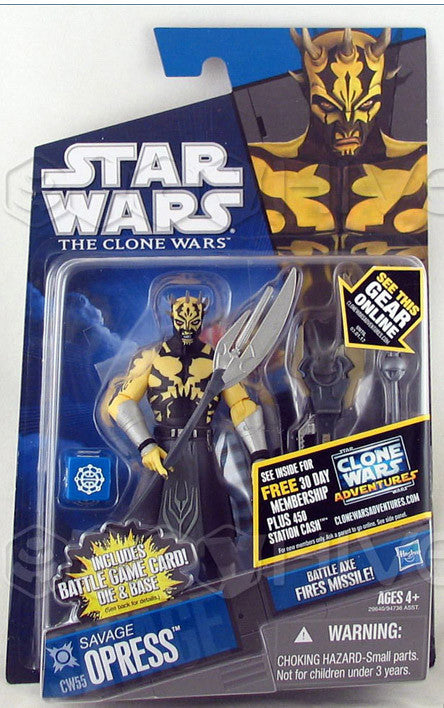 CW55 Savage Opress Star Wars The Clone Wars 3.75""