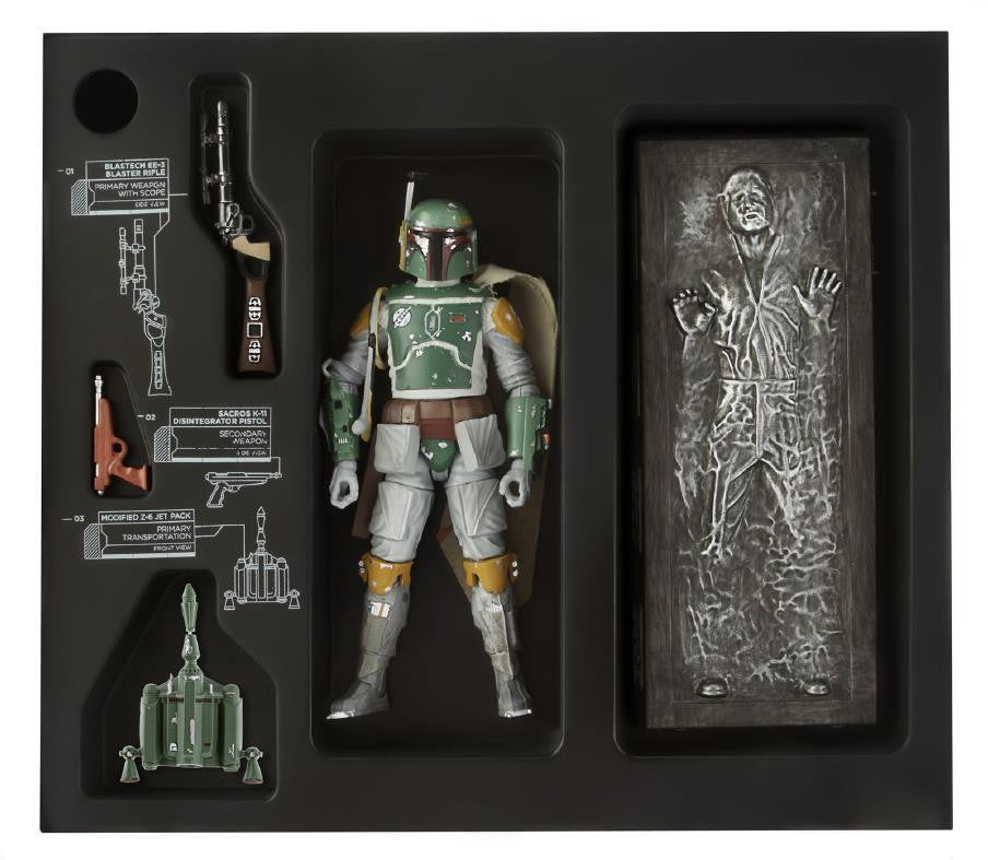 Boba Fett and Han Solo in Carbonite SDCC Exclusive Star Wars Black Series 6""