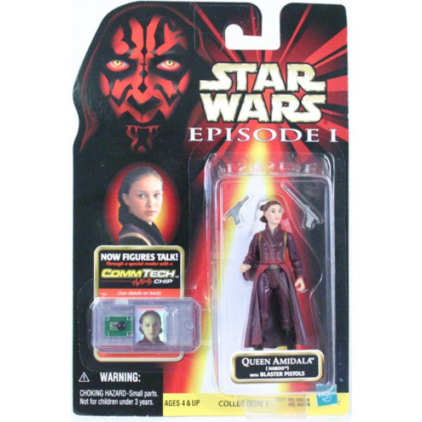 Queen Amidala with blaster pistols  3.75""