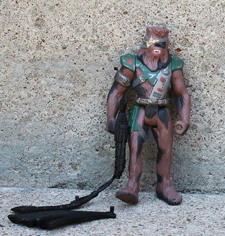 "Chewbacca as bounty hunter Snoova Shadows of the Empire Star Wars 3.75"" Loose"