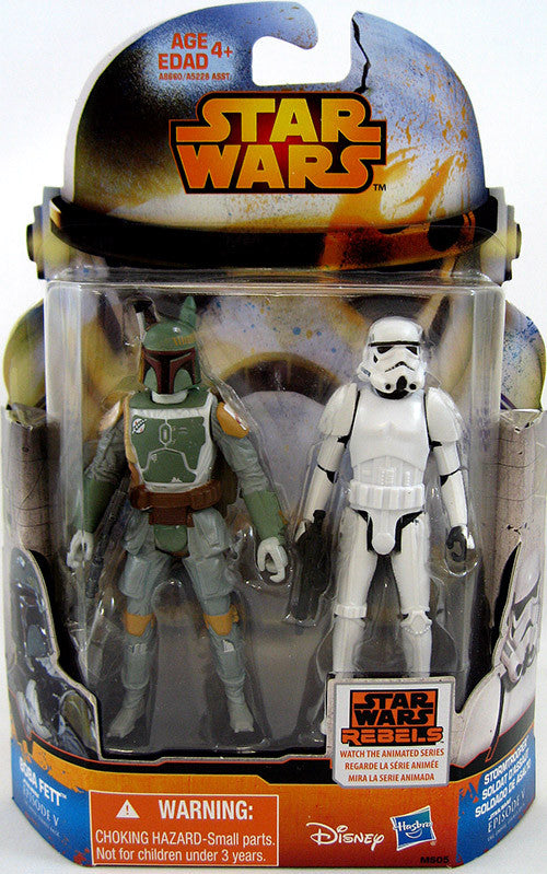 "MS05 Rebels Mission Series 3.75"" Boba Fett / Stormtrooper"