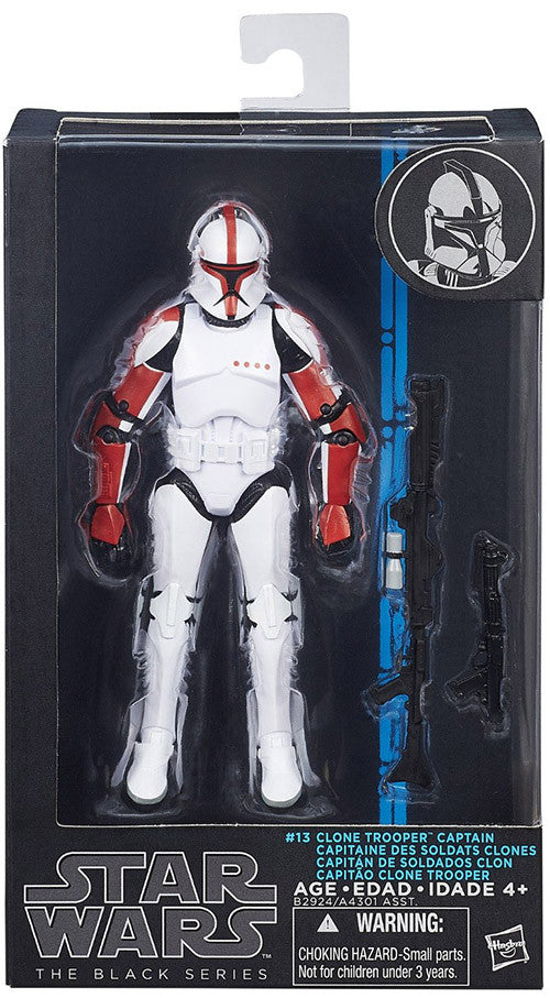 #13 Clone Trooper Captain Star Wars Black Series 6""