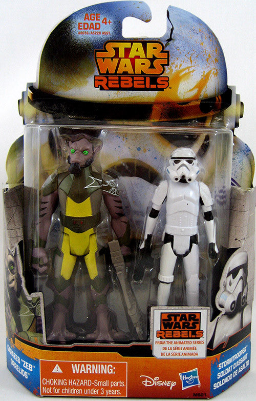 Star Wars Rebels 3.75 Inch Action Figure Mission 2-Pack Wave 4 - Garazeb Orrelios & Stormtrooper MS01