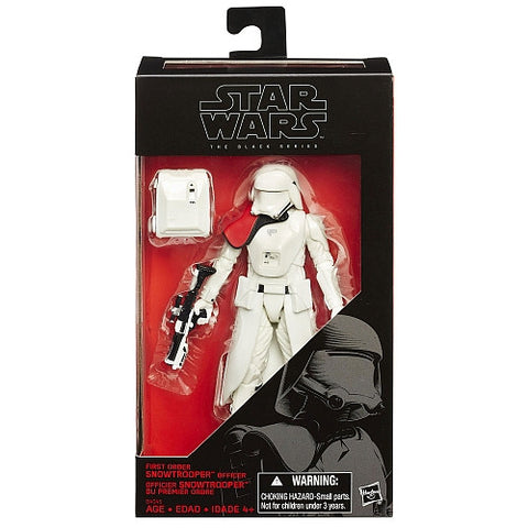First Order Snowtrooper Officer Exclusive Black Series 6""