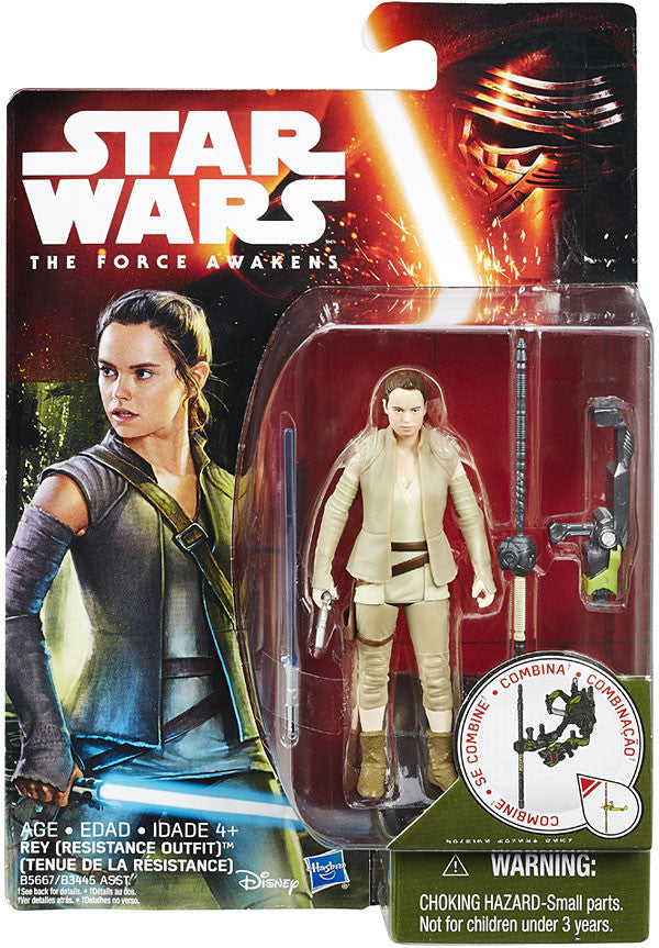 Rey (Resistance Outfit) Star Wars The Force Awakens 3.75""