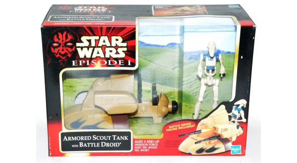 Star Wars Armored Scout Tank w/ Battle Droid Episode 1