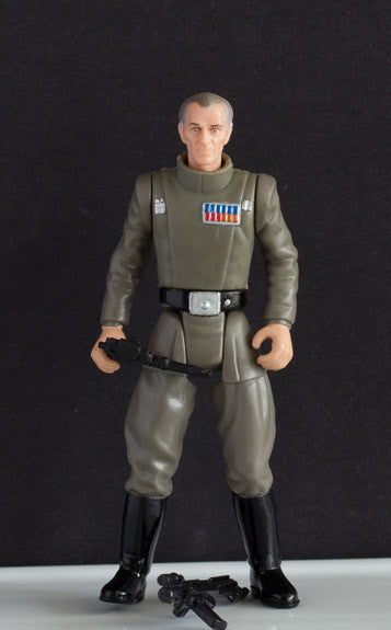 "GRAND MOFF TARKIN (DEATH STAR) - STAR WARS POWER OF THE FORCE 2, 1997 3.75"" LOOSE (incomplete)"