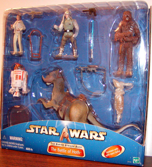 The Battle of Hoth Empire Strikes Back Figure set.  TaunTaun, Chewbacca, Princess Leia, Luke Skywalker,
