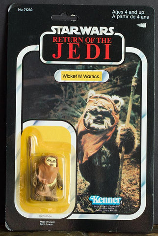Vintage Star Wars Wicket W. Warrick Ewok Carded 77-back Kenner carded sealed (C8)