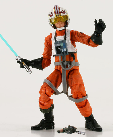 "#01 X-Wing Pilot Luke Star Wars Black Series 6"" Loose"