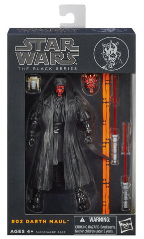 #02 Darth Maul Star Wars Black Series 6""