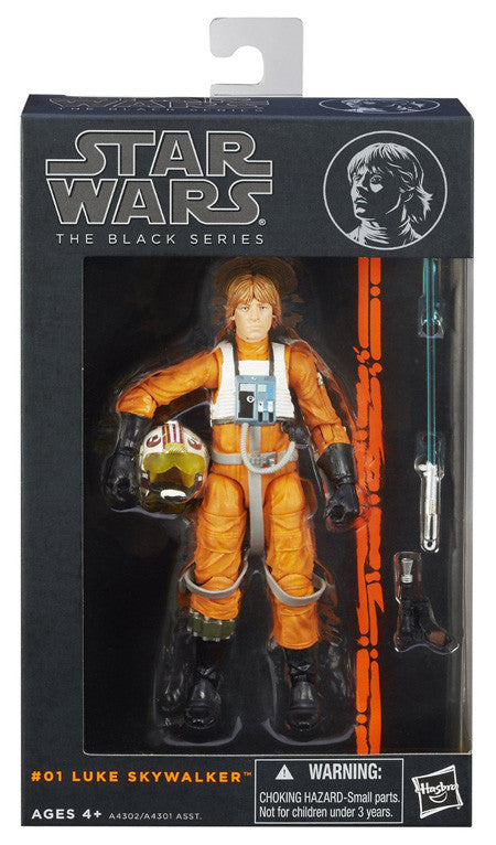 #01 Luke Skywalker Rebel Pilot Star Wars Black Series 6""