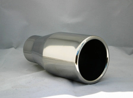 "3.5"" ROLLED END SHORT EXHAUST TIP - Flowrite Exhaust Systems"