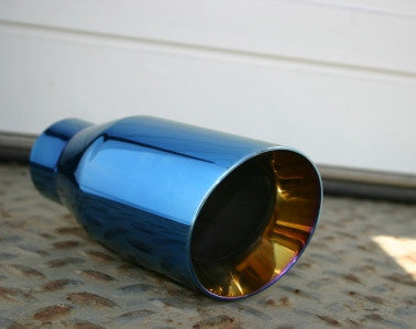 "3.5"" BLUE EXHAUST TIP - Flowrite Exhaust Systems"