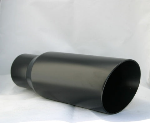 "4"" BLACK ANGLE EXHAUST TIP - Flowrite Exhaust Systems"