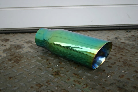 "4"" GREEN EXHAUST TIP - Flowrite Exhaust Systems"
