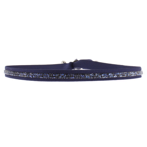 Fine Rocks Choker Necklace & Headband - Navy & Blue