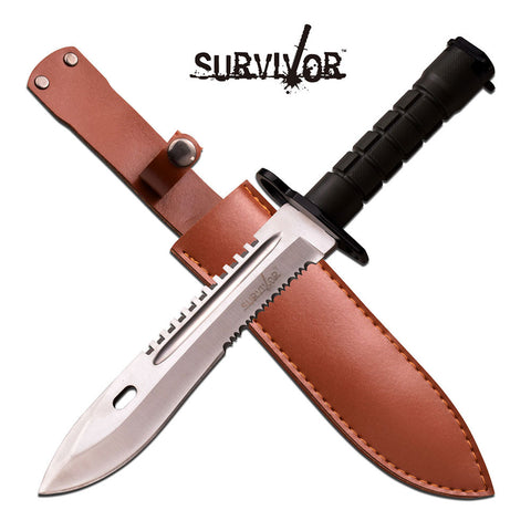 Survival Blade w/ Leather Sheath