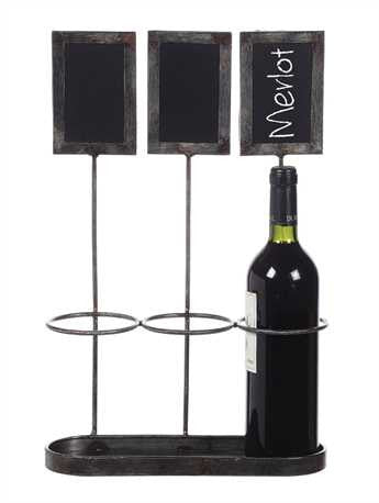Wine Bottle Holder With Chalkboards