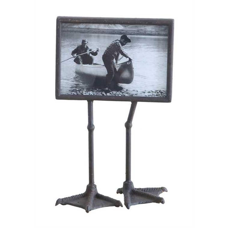 "7x5"" Metal Photo Frame w/ Duck Feet"