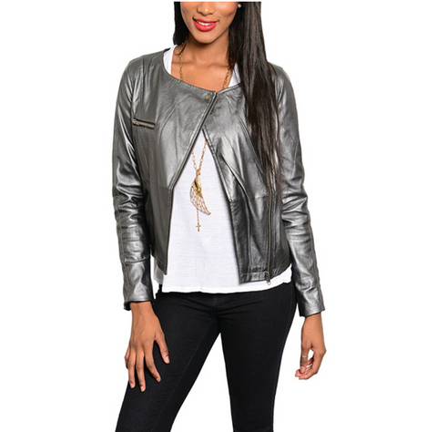 Metallic Vegan Lightweight Jacket