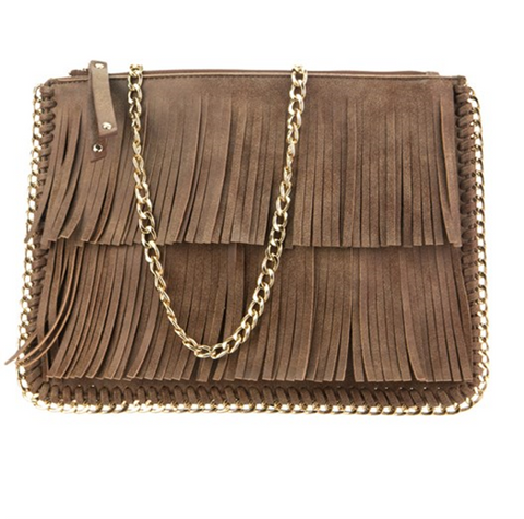 Double Layer Fringe Clutch
