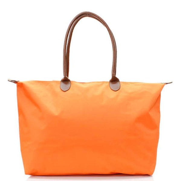 Microfiber Nylon Tote Bag Orange