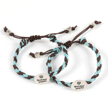 Share® TYJ® Bracelets (Chocolate/Sky) - Trust Your Journey