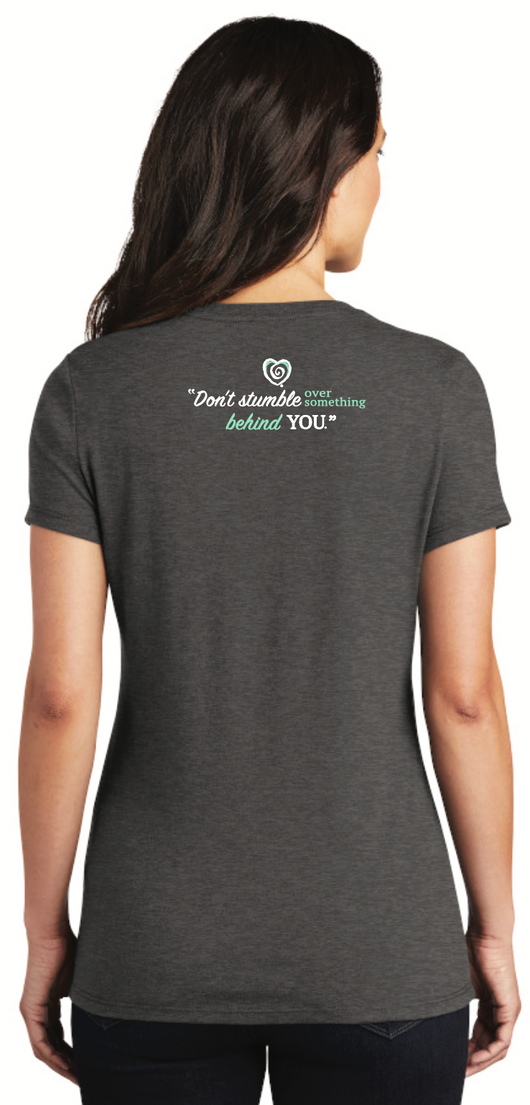 Don't Stumble Tee-Heather Charcoal - Trust Your Journey