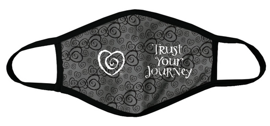 Face Mask-Gray Multi Heart (Small Adult)