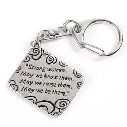 Strong Women Keychain - Trust Your Journey