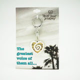 Voice of the Heart Keychain - Trust Your Journey