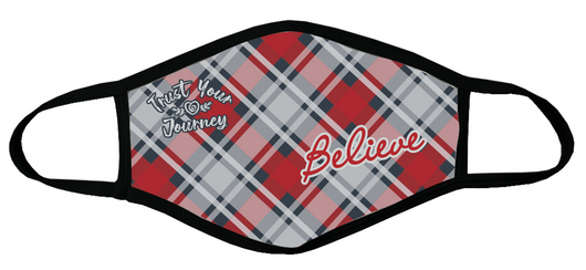 Face Mask-Believe Red Plaid