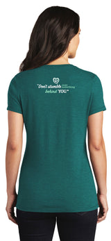 Don't Stumble Tee-Heather Teal - Trust Your Journey