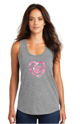 Multi Heart Tank-Grey - Trust Your Journey