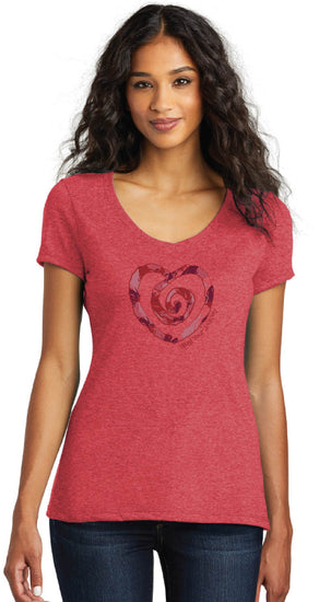 Multi Heart Short Sleeve Tee-Red - Trust Your Journey