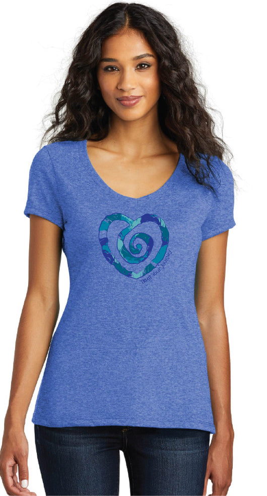 Multi Heart Short Sleeve Tee-Blue
