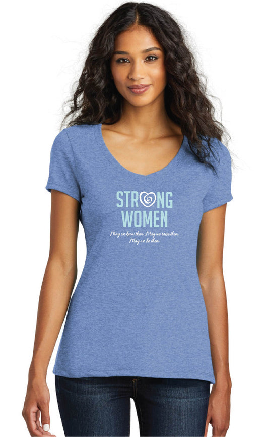 Strong Women Short Sleeve Tee-Blue - Trust Your Journey