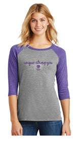 Unique-Strong-You Tee Purple - Trust Your Journey