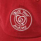 The Message Hat-Red - Trust Your Journey