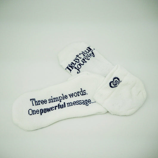 The Message Socks - Trust Your Journey