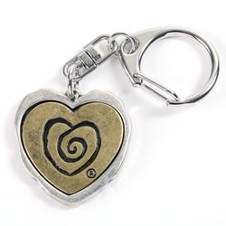 Heart In Heart Keychain - Trust Your Journey
